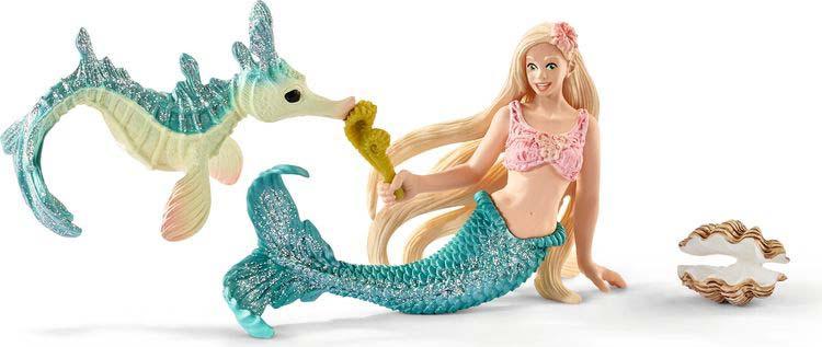 Фигурка Schleich Мишель, 70555 veld co игровой набор с мини куклой русалка и морской конек цвет желтый розовый