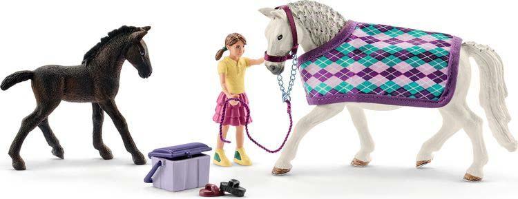 Игровой набор Schleich Забота о лошадях Липиццанер, 72130 schleich фигурка тракененский жеребенок