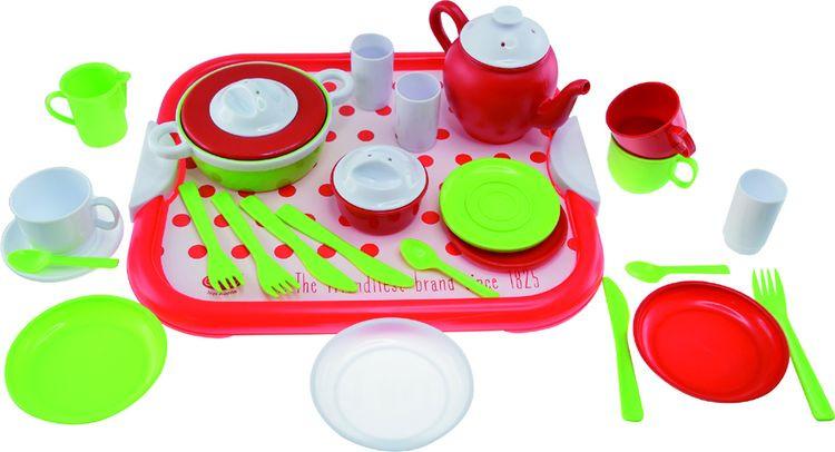 Фото - Игрушка для песочницы Gowi Набор посуды, 454-21, 29 предметов gowi набор игрушек для песочницы ручки и ножки 5 предметов