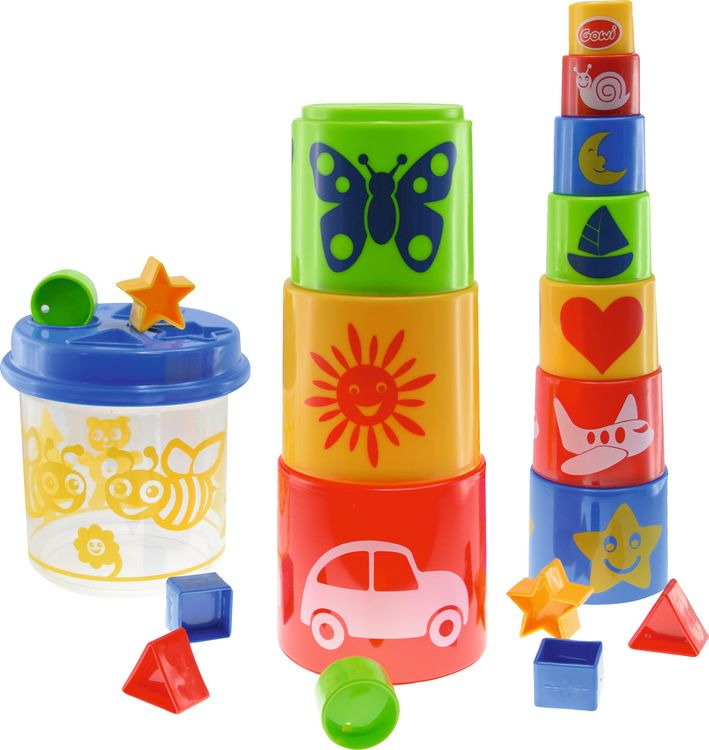 Игрушка для песочницы Gowi Ведерко-пирамидка, 453-20 развивающие игрушки gowi ведерко пирамидка 21 предмет