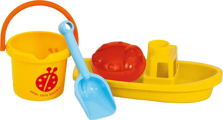 Набор для исгры с пеской и водой Gowi, 558-32, 4 предмета558-32Пускать по воде кораблики, лепить уточек из песка, строить замки и крепости, рыть траншеи - все это ваш ребенок сможет сделать с набором от Gowi. В набор входит: ведерко, лопата, лодочка, формочка уточка. Игрушки Gowi выполнены из высококачественного безопасного для здоровья ребенка крепкого пластика. Купить игрушки Gowi можно в нашем интернет-магазине с доставкой в удобное для Вас время в Москву, Санкт-Петербург и другие регионы России!
