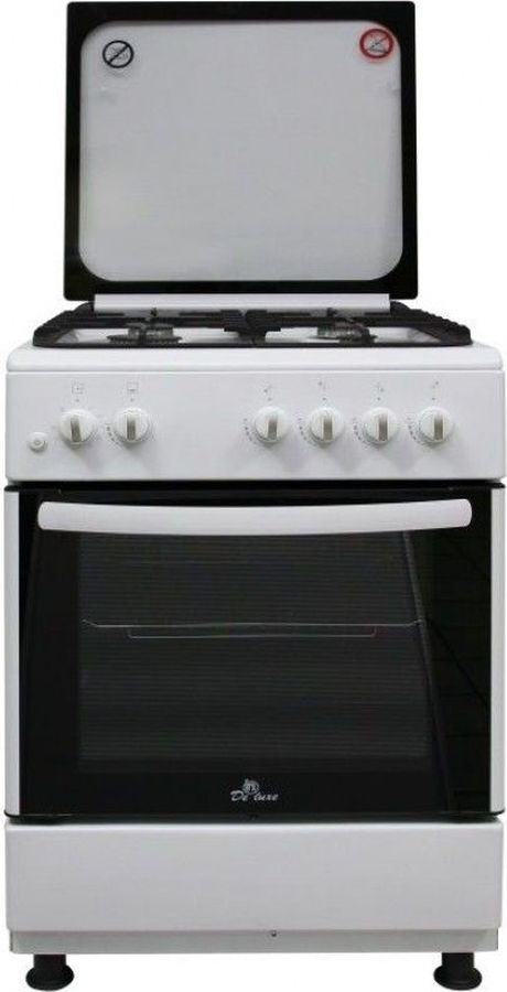 Плита De luxe 606040.24г 001 (кр) ЧР, белый цена и фото