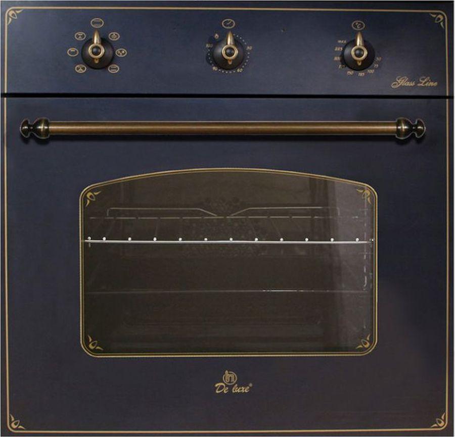 Духовой шкаф De luxe 6006.03 эшв-062, черный