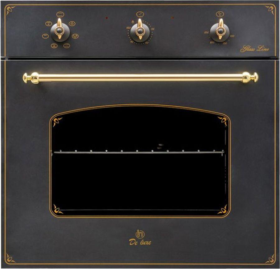Духовой шкаф De luxe 6006.03 эшв-061, черный