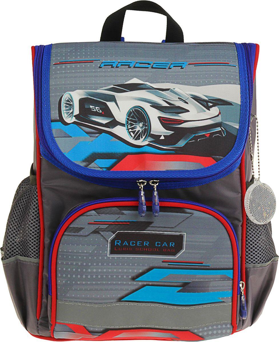 Ранец школьный для мальчика Luris Мишутка Авто, 3105416, разноцветный ранец детский мишутка de 0182