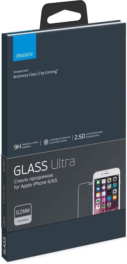 Защитное стекло Deppa Ultra для Apple iPhone 6S, прозрачный