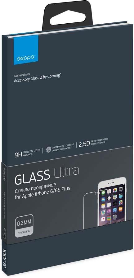 Защитное стекло Deppa Ultra для Apple iPhone 6S Plus, прозрачный