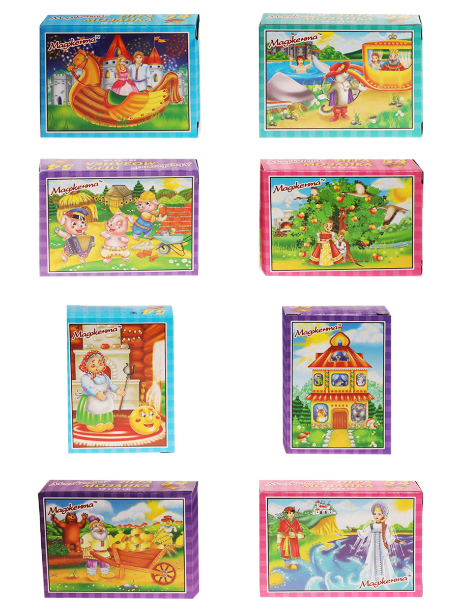 Пазл Маджента Набор для детей, со сказками