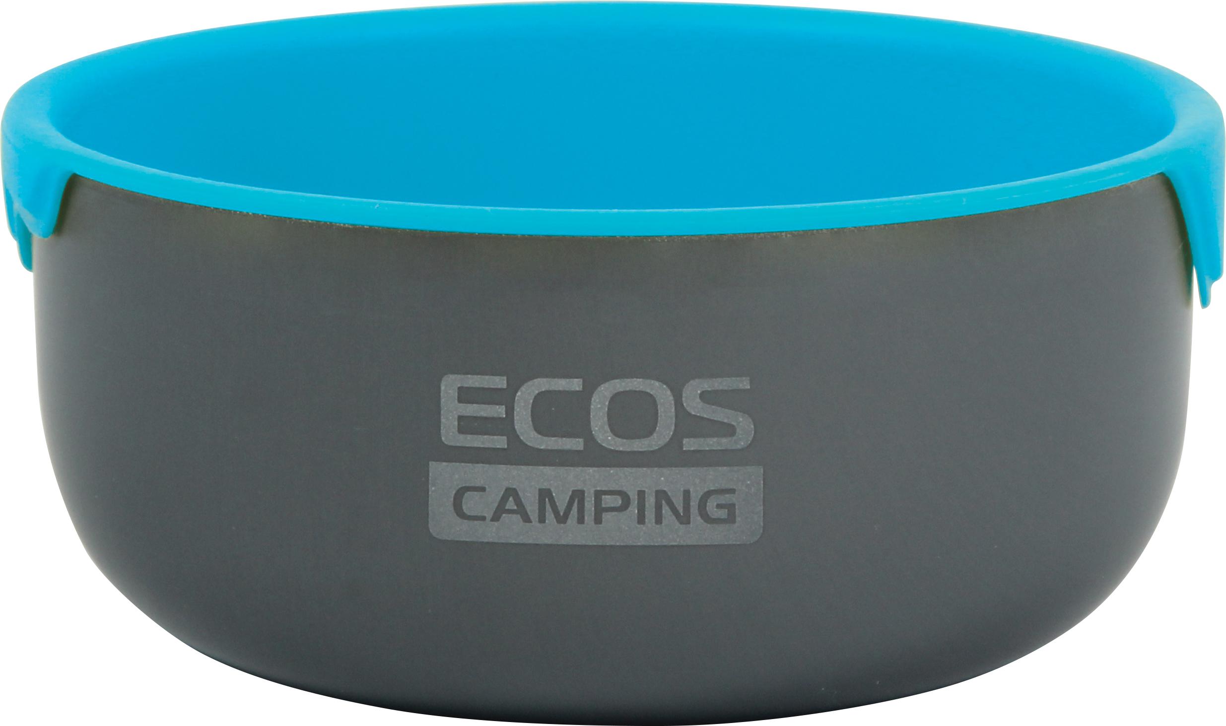 Миска походная Ecos CT080, голубой, черный