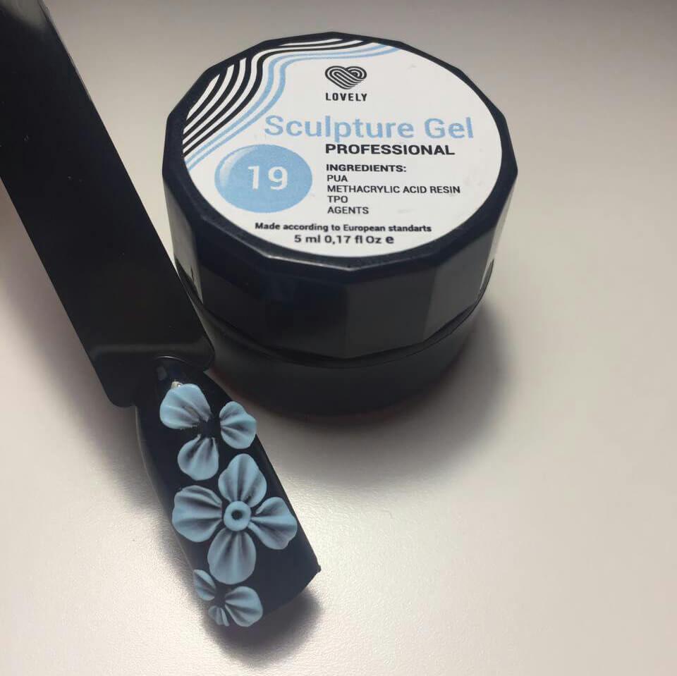 Гель-лак Lovely №019N0000012184D-гель Lovely №019 – небесно-голубой оттенок.Преимущества 4D-геля: — пластичная плотная текстура; — почти не имеет запаха;— не имеет дисперсионный слой; — высокопигментированные цвета.