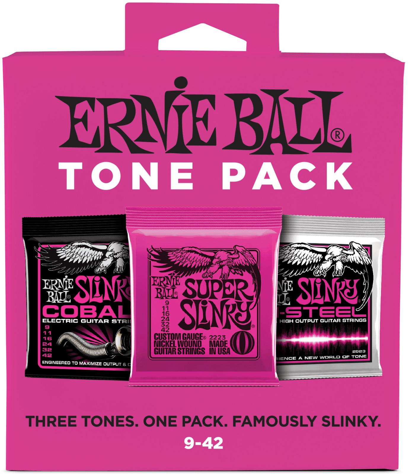 Струны для электрической гитары Ernie Ball 9-42 Nickel/Cobail/M-STEEL, P03333P03333Набор из 3х комплектов струн