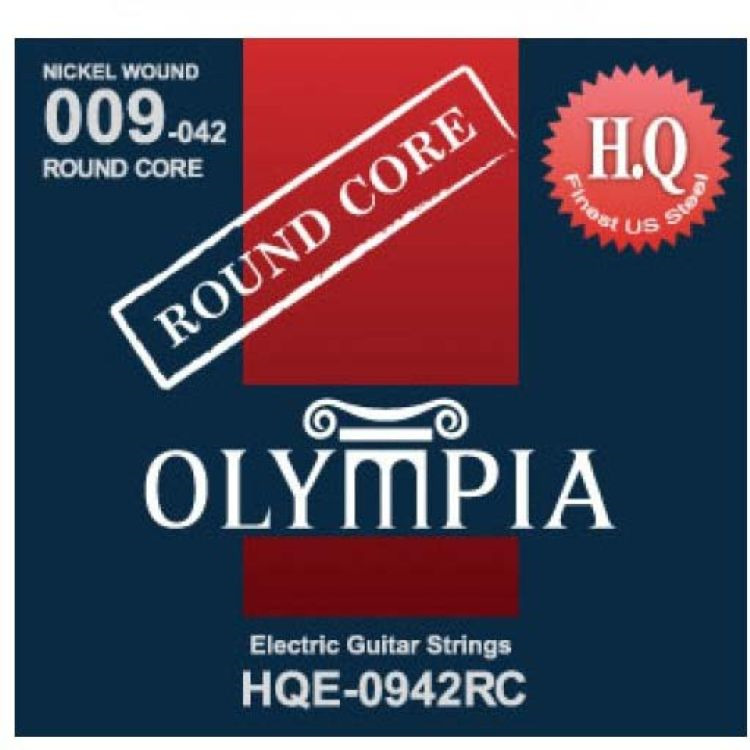 Струны для электрической гитары Olympia Round Core (9-11-16-24w-32-42), HQE0942RC
