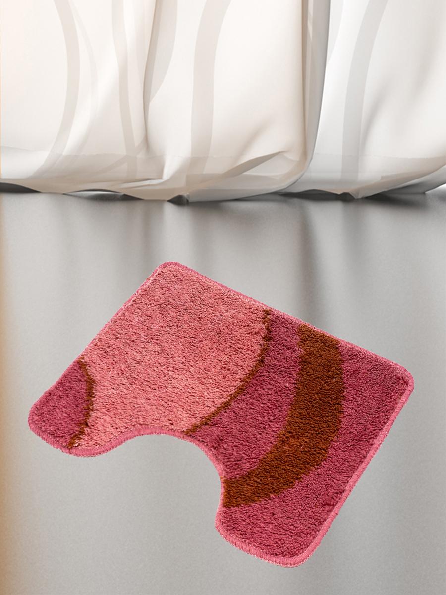 Коврик для туалета mr. Penguin RGS414R/0, розовый коврик для туалета mr pinguin узоры синий белый