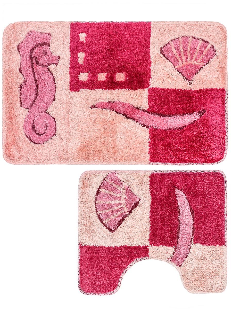 Коврик для ванной mr. Penguin RGS202R/2, розовый mr page 2