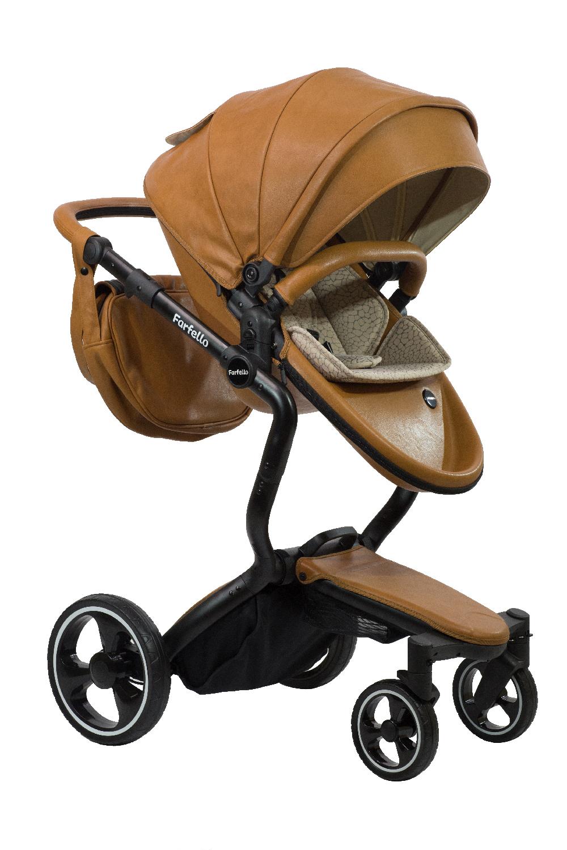 Коляска-трансформер Farfello Hot mama светло-коричневый