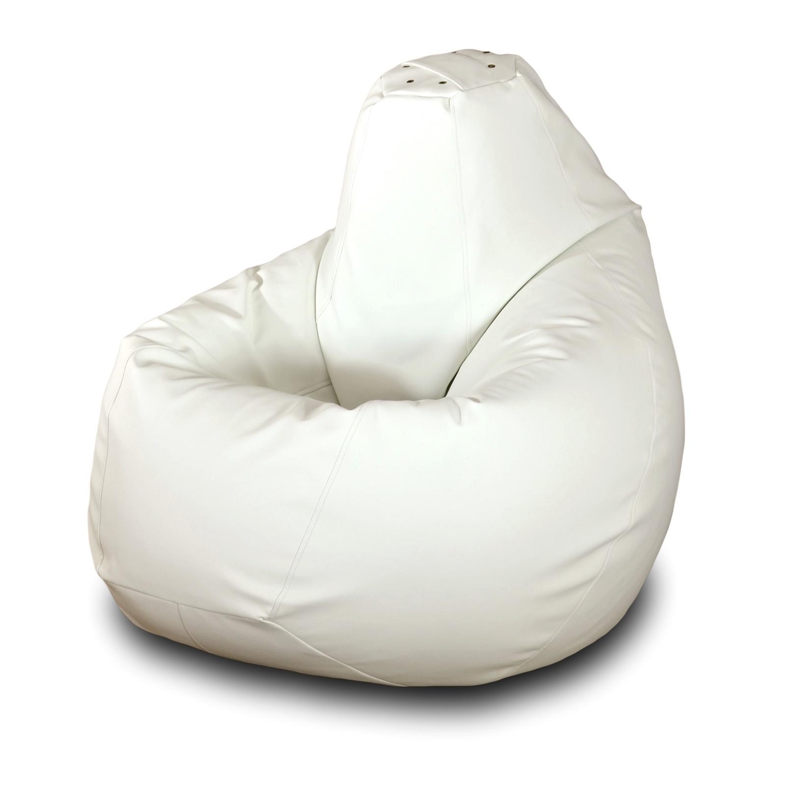 Кресло-мешок Пазитифчик ЭКОКОЖА БЕЛЫЙ L, белый alternativa кресло alternativa белый