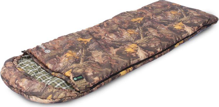 Спальный мешок Prival Привал КМФ, левосторонняя молния, желтый, коричневый, бежевый, 210 х 75 см цена