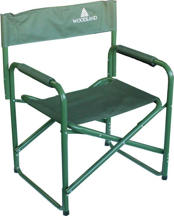 Кресло складное Woodland Camper, кемпинговое, зеленый, 80 x 60 x 46 см кресло woodland ck 100 comfort складное кемпинговое 54 x 54 x 98 см сталь