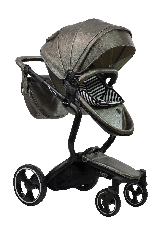 Коляска-трансформер Farfello Hot mama темно-серый jj cole сумка для мамы satchel цвет черный темно серый