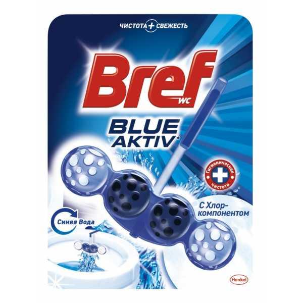 Средство для ванной и туалета Bref Блю-Актив с хлор-компонентом, 50 гр цены