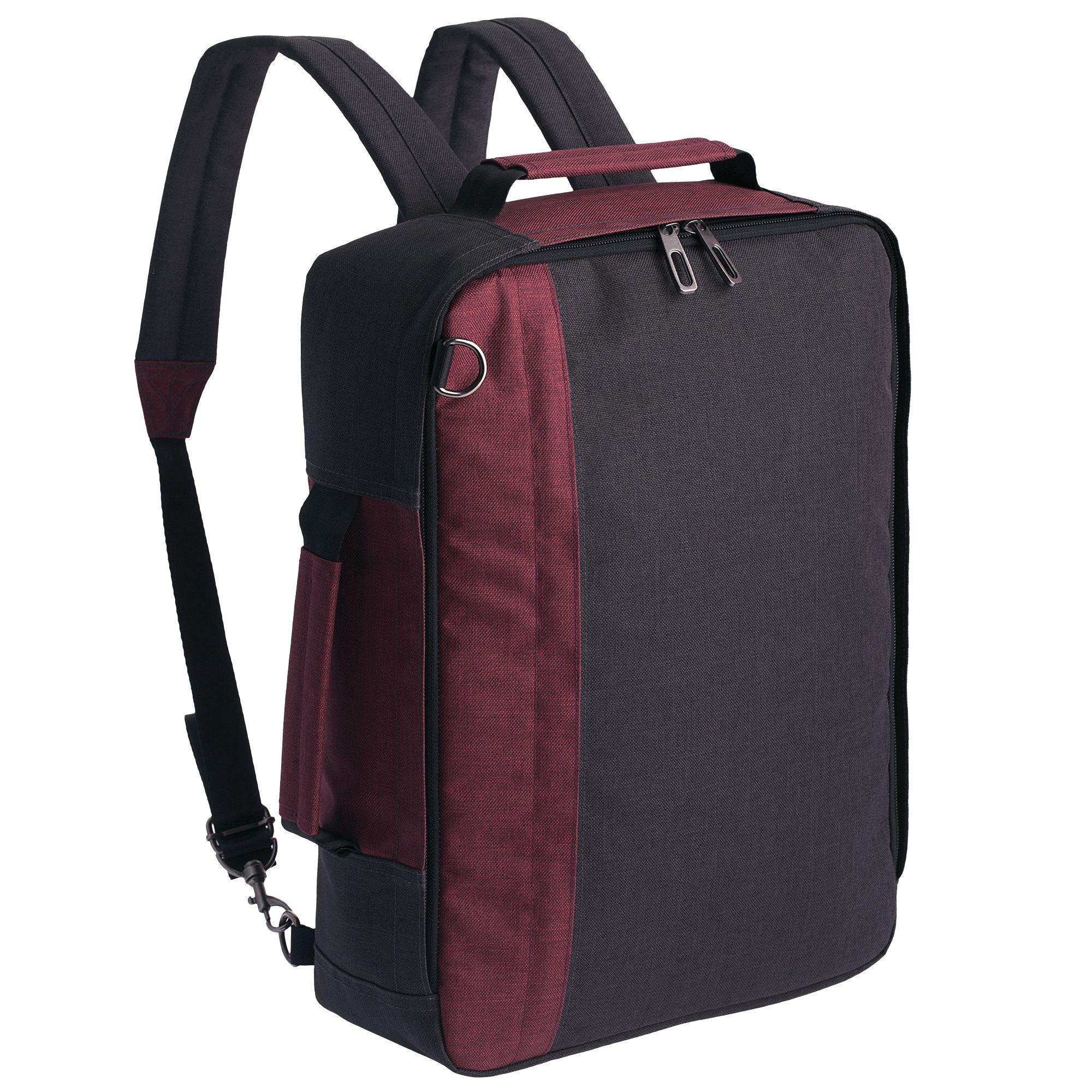 Рюкзак для ноутбука Indivo twoFold, бордовый, серый