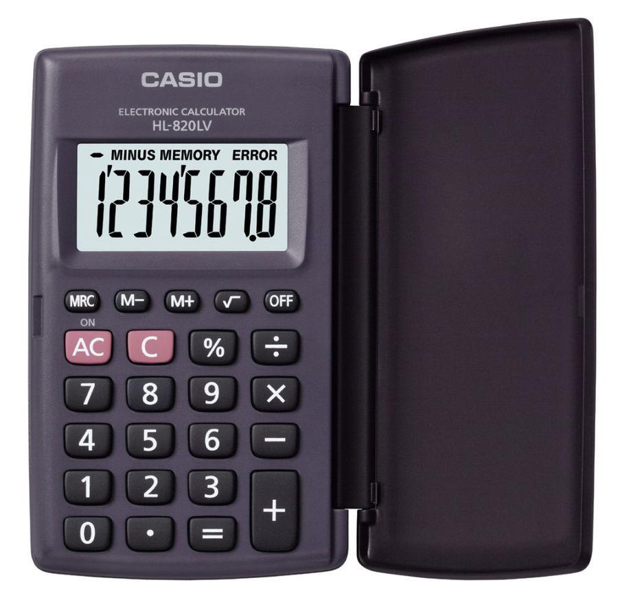 Карманный калькулятор Casio HL820LV, черный калькулятор casio mx 12s