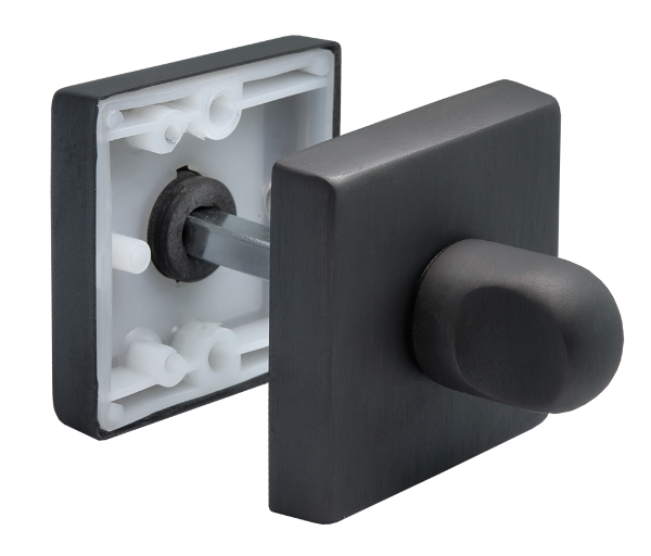 Завертка Morelli Luxury LUX-WC-Q NERO, черный комплект соединительный прямой стилье 02102 1010