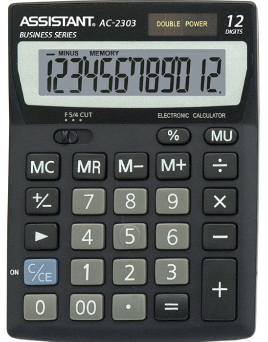 Фото - Настольный калькулятор Assistant F00028, черный калькулятор настольный assistant ac 2488 14 разрядный ac 2488