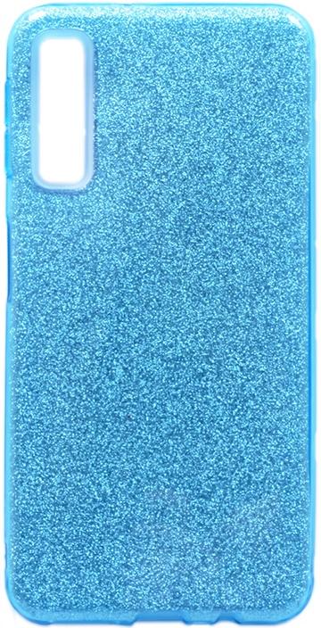 Чехол для сотового телефона GOSSO CASES для Samsung Galaxy A7 (2018) Brilliant Shine голубой, голубой