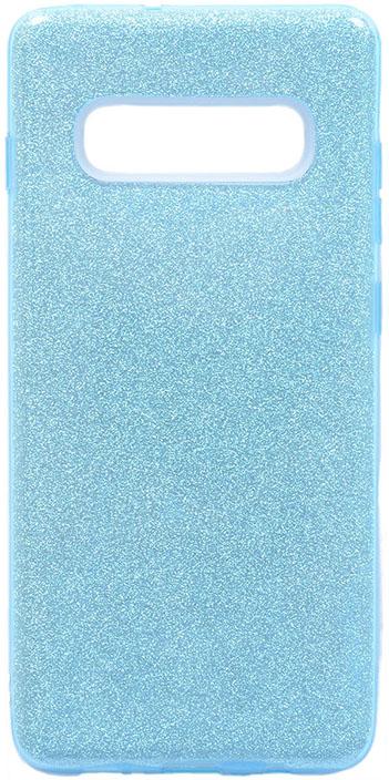 Чехол для сотового телефона GOSSO CASES для Samsung Galaxy S10+ Brilliant Shine голубой, голубой