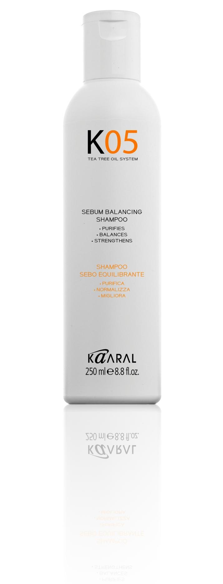 Шампунь для волос KAARAL Sebum Balancing Intense Treatment шампунь для восстановления баланса секреции сальных желез kaaral ko5 sebum balancing 250 мл
