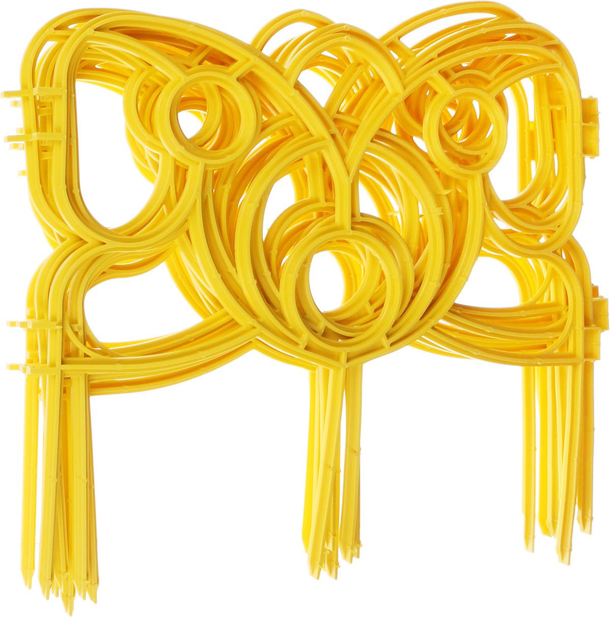 "Забор декоративный Комплект-Агро ""Бабочка"", цвет желтый 19 см х 3 м"
