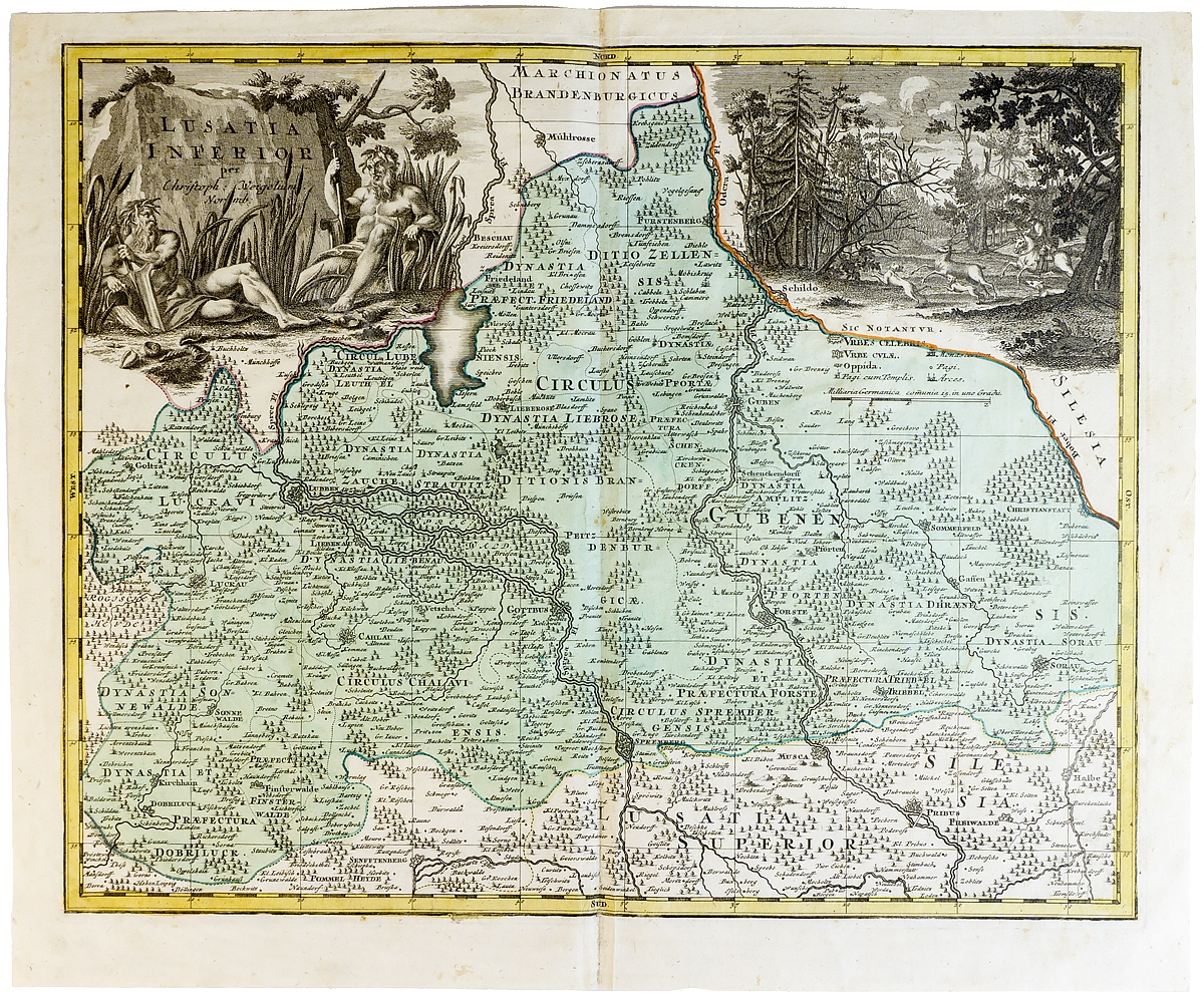 Географическая карта  Карта Германии (Нижняя Саксония)