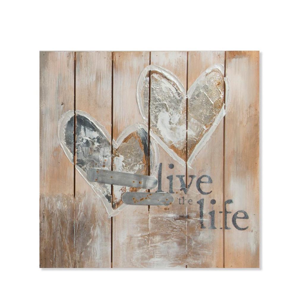 Картина Rich Line Home Decor Любовь в каждом дыхании 79887, коричневый столик из металла и дерева h высота 60 см nottingham