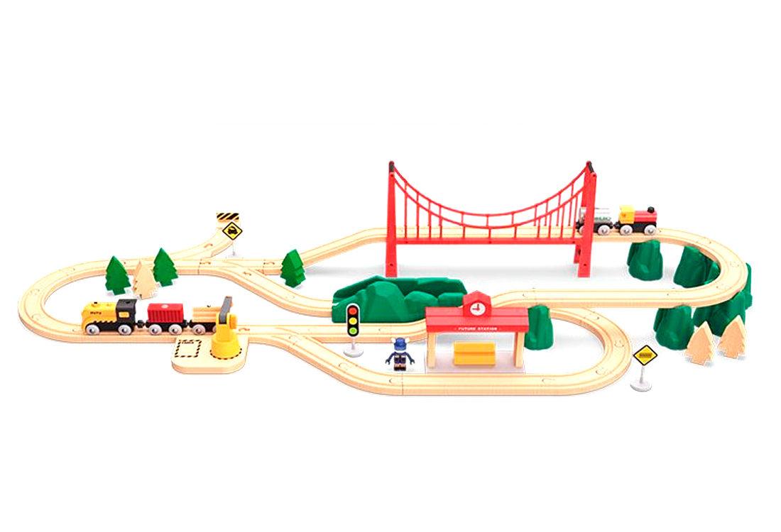 Игровой набор Xiaomi Детская железная дорога Mi Toy Train Set800020RUSМагнитные соединенияПаровозик отправляется одним нажатиемЕвропейский бук и ABS-пластикБезопасная эмальРазвитие 8 ключевых способностей:Ориентирование в пространствеКоординация движенийСкладывание и соединениеВоображениеСамостоятельная уборкаКоммуникативные навыкиМышлениеРазличение цветов