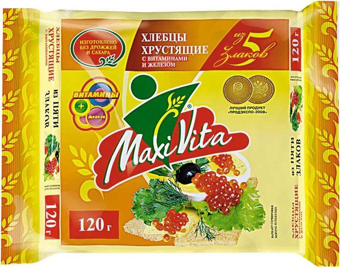 Хлебцы Maxi Vita 5 злаков, 120 г витамины vita men maxler