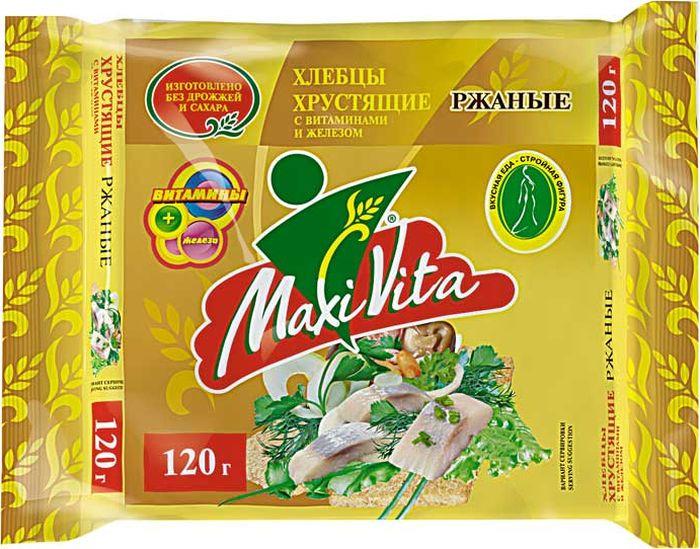 Хлебцы Maxi Vita Ржаные, 120 г витамины vita men maxler