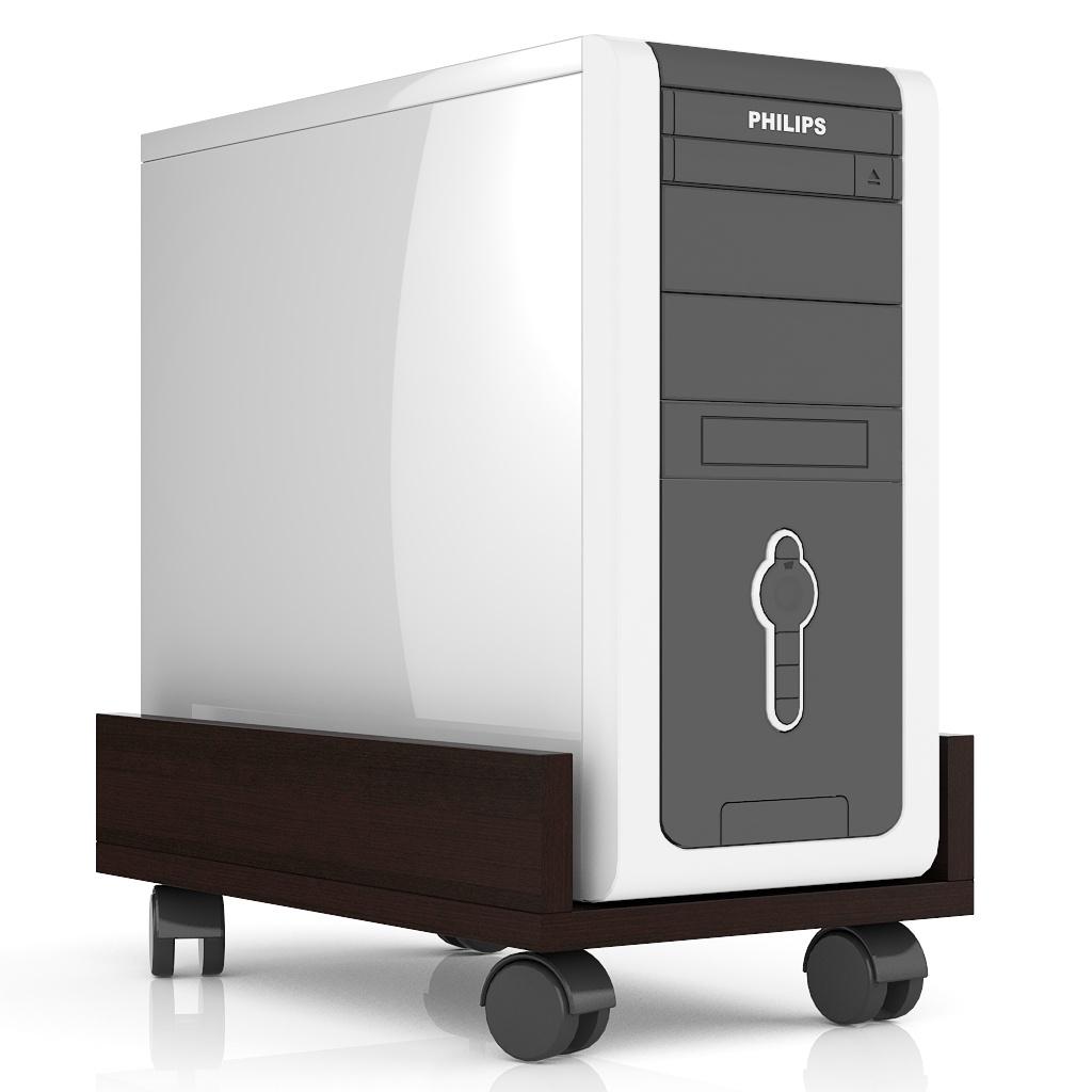 Полка Мебельный Двор под системный блок С-МД-4-02, цвет венге подставка под системный блок profioffice цвет светло серый