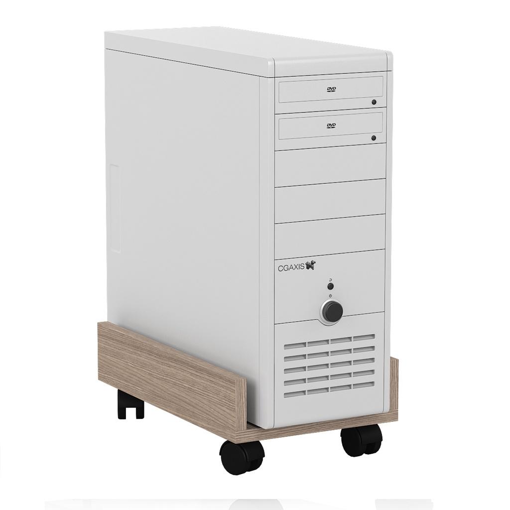 Тумба Мебельный Двор под системный блок С-МД-4-02, цвет ясень шимо светлый подставка под системный блок profioffice цвет светло серый