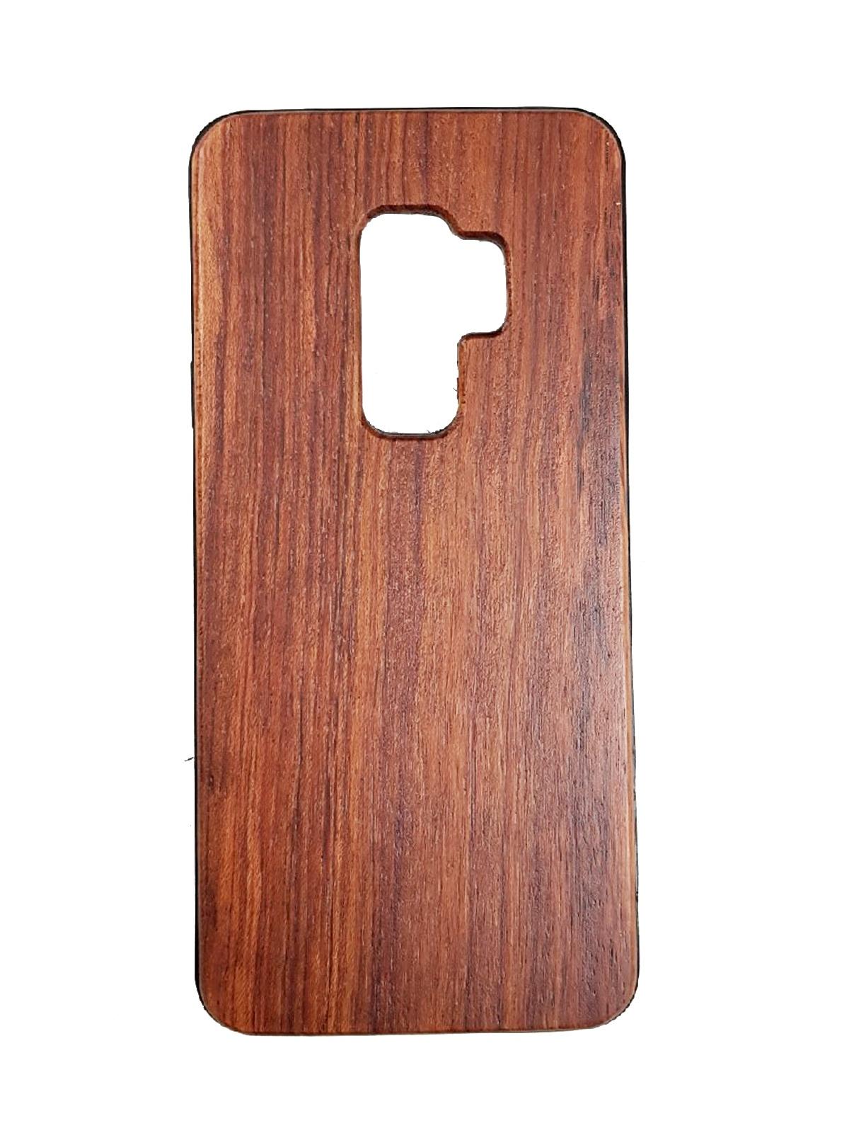 Чехол для сотового телефона Green Case Деревянный чехол-бампер для Samsung Galaxy S9 Plus, красный