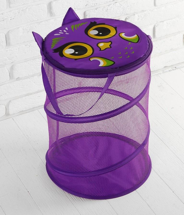 Корзина для игрушек ШколаТалантов Смайл, фиолетовый