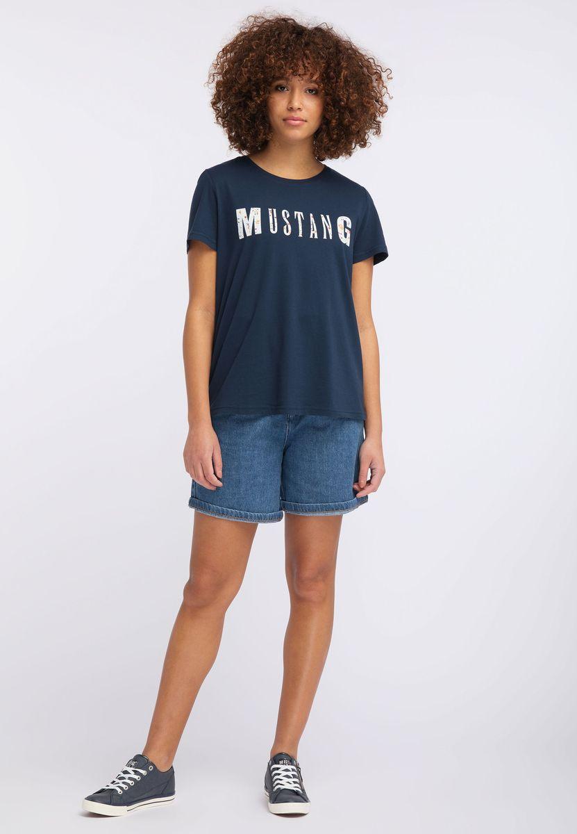 Футболка MUSTANG Femninine Tee футболка мужская mustang photoprint tee цвет белый 1007060 2020 размер xl 52 54