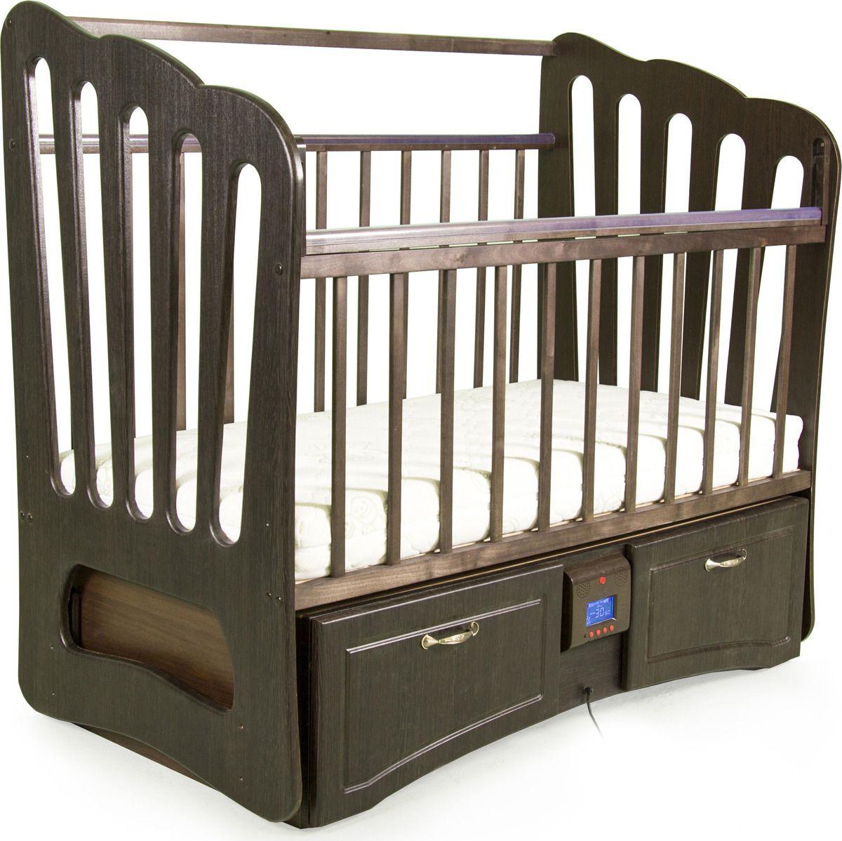 Кровать Daka Baby Укачай-ка 06. Валенсия, цвет: венге кроватка daka baby укачай ка 02 цвет венге