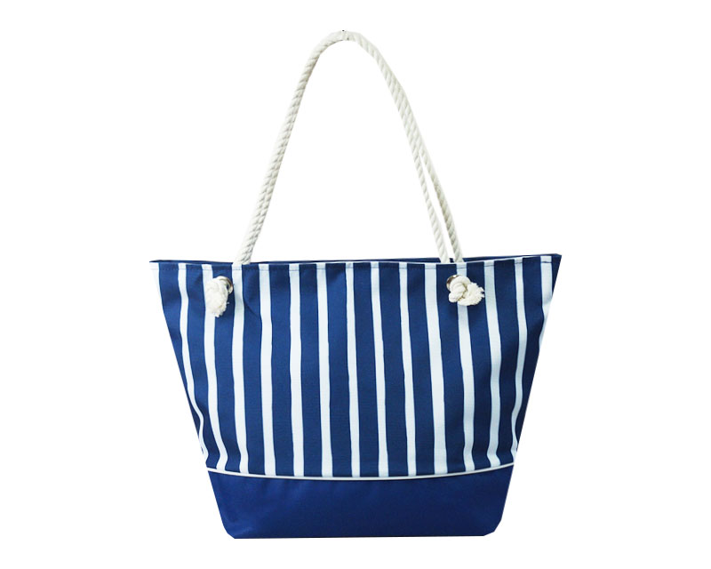 Пляжная сумка Пляжная П-01, синий, белый