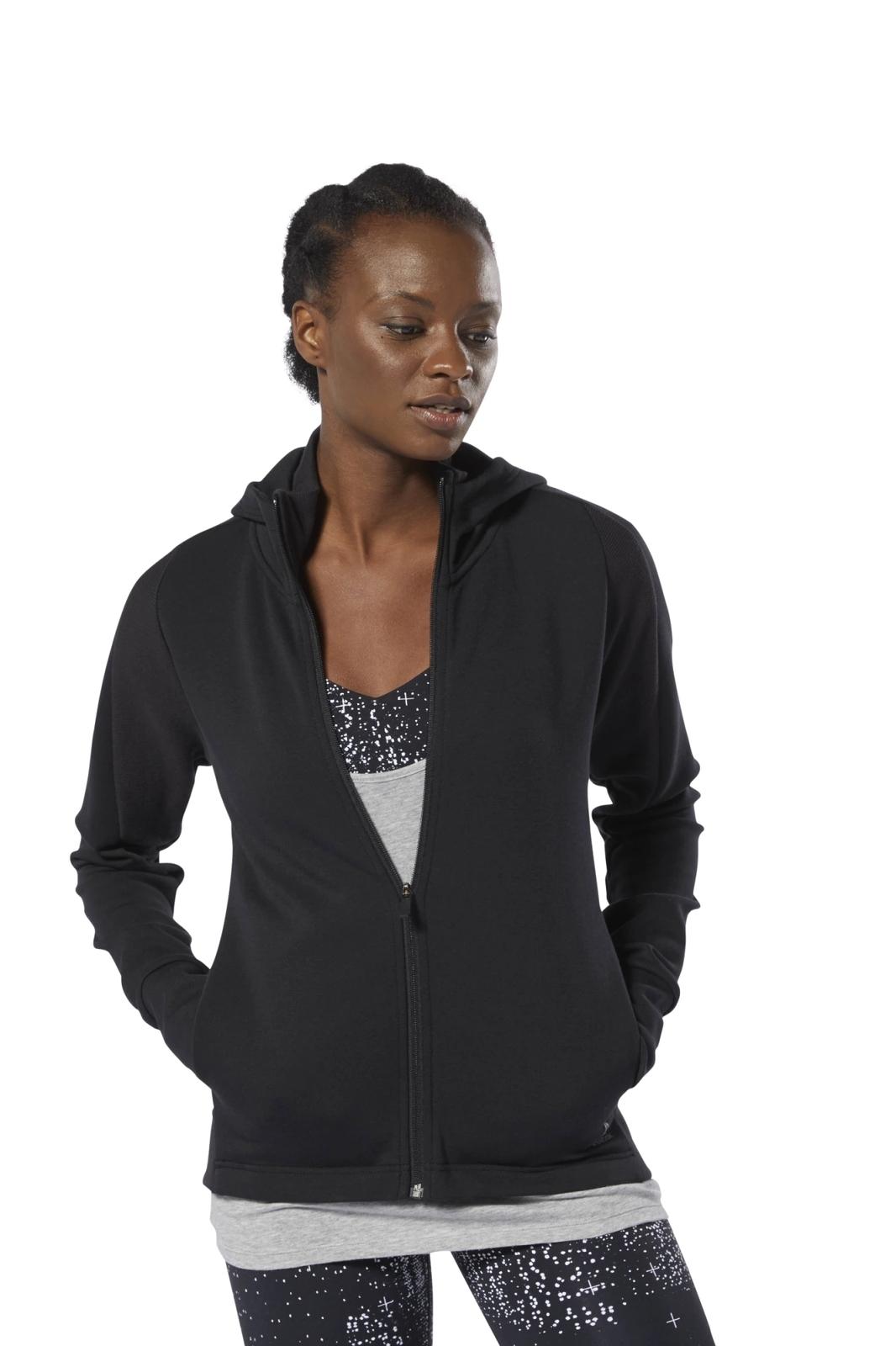 Худи Reebok Os Cotton Fz Hoodie cotton blends patchwork mens casual hoodie