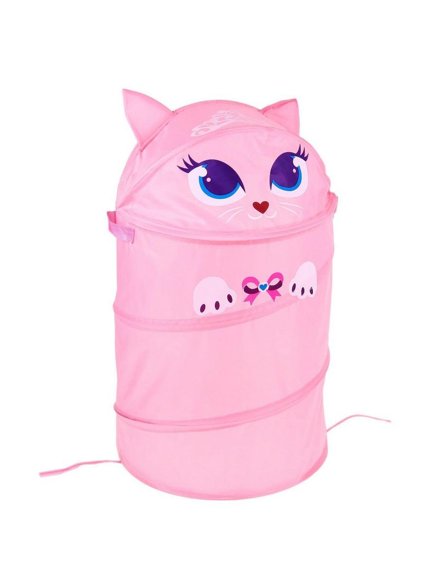 Корзина для игрушек ШколаТалантов Любимые зверята, розовый