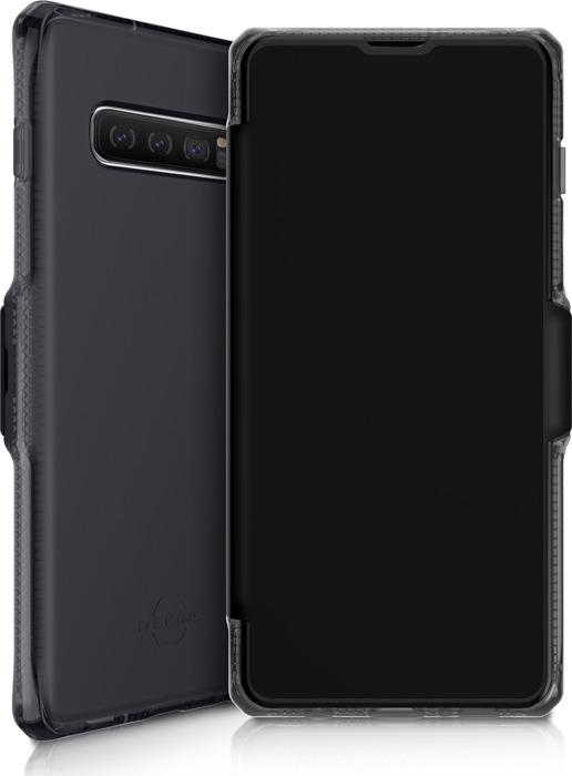 Чехол-книжка Itskins Spectrum Folio для Samsung Galaxy S10+, черный оникс