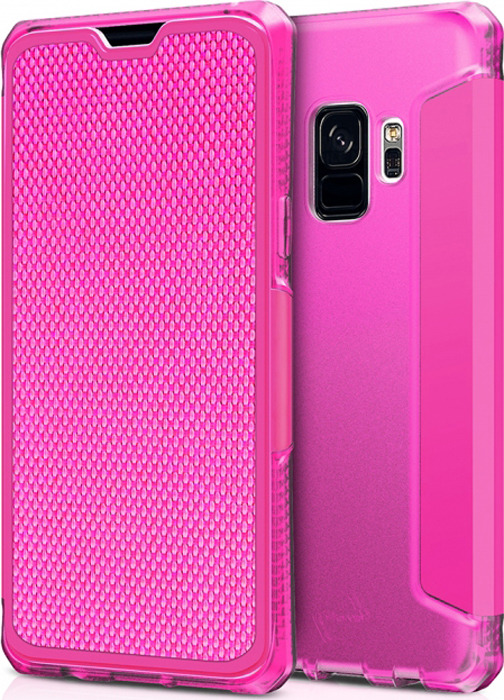 Чехол-книжка Itskins Spectrum Folio для Samsung Galaxy S9, розовый