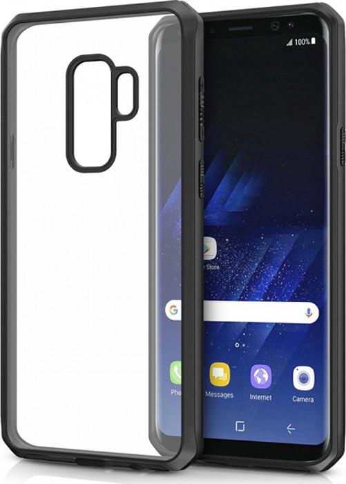 Чехол-накладка Itskins Hybrid Edge для Samsung Galaxy S9+, черный, прозрачный