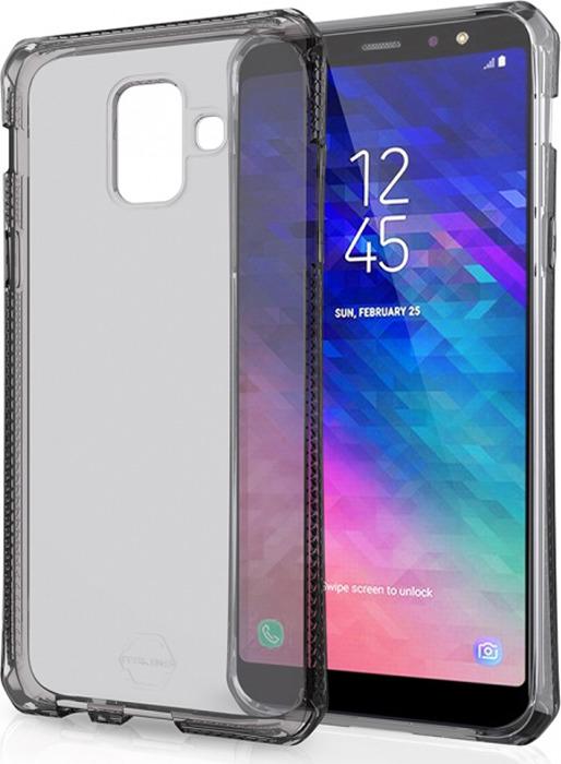 Чехол-накладка Itskins Spectrum Clear для Samsung Galaxy A6 (2018), черный